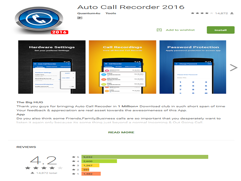 Auto Call Recoder.